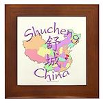 Shucheng China Map Framed Tile