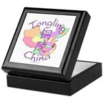 Tongling China Map Keepsake Box