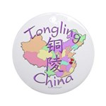 Tongling China Map Ornament (Round)
