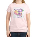 Tongling China Map Women's Light T-Shirt