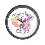 Tongling China Map Wall Clock