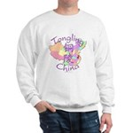 Tongling China Map Sweatshirt