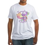 Tongling China Map Fitted T-Shirt