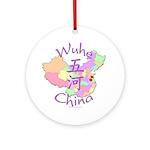 Wuhe China Map Ornament (Round)