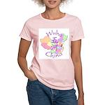 Wuhe China Map Women's Light T-Shirt