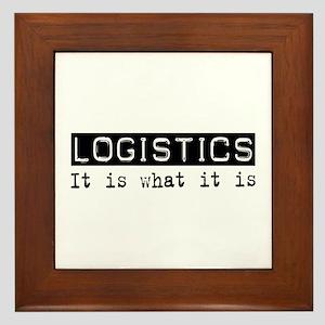 Logistics Is Framed Tile