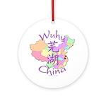 Wuhu China Map Ornament (Round)