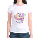 Wuhu China Map Jr. Ringer T-Shirt