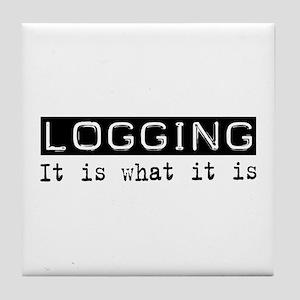 Logging Is Tile Coaster