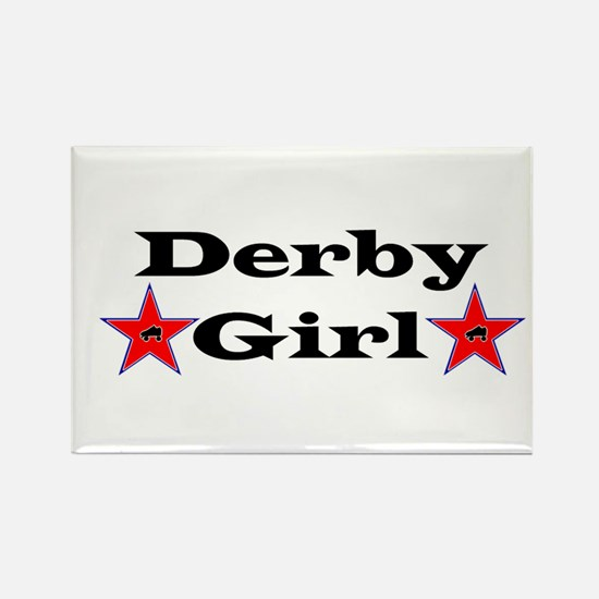 Derby Girl - Star Rectangle Magnet