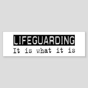 Lifeguarding Is Bumper Sticker