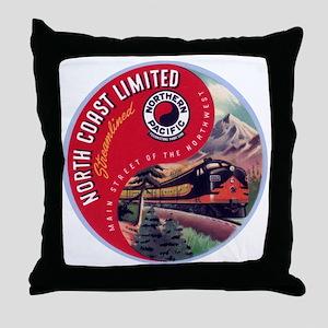 North Coast Railroad Throw Pillow