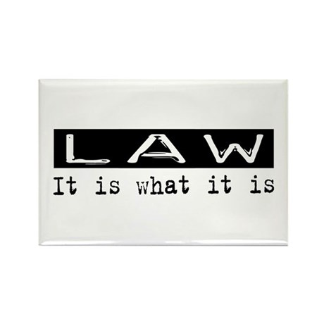 Law Is Rectangle Magnet (100 pack)