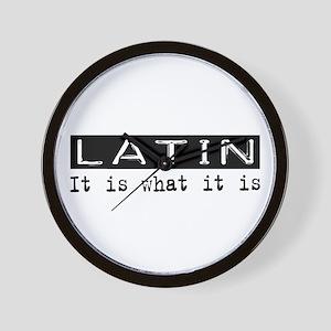 Latin Is Wall Clock
