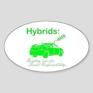 Hybrids: Social Responsibility Oval Sticker