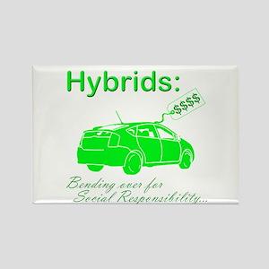 Hybrids: Social Responsibility Rectangle Magnet