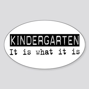 Kindergarten Is Oval Sticker