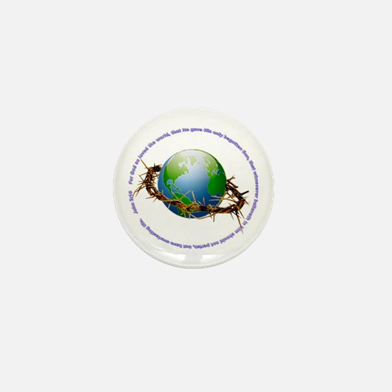 Christ Crown of Thorns and Globe Mini Button