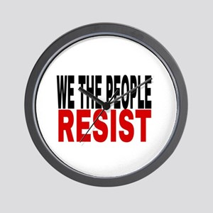 We The People Resist Wall Clock