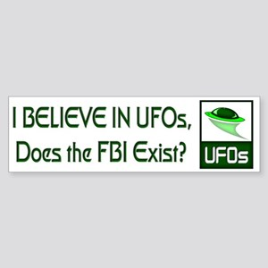 Does the FBI Exist? Bumper Sticker
