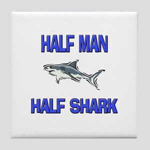 Half Man Half Shark Tile Coaster