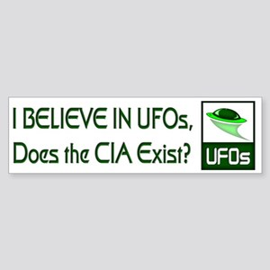 Does the CIA Exist? Bumper Sticker