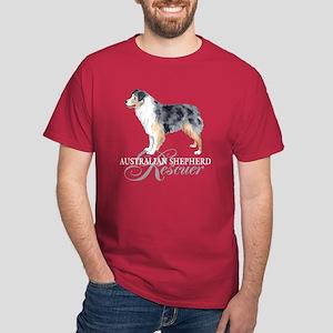 Australian Shepherd Rescue Dark T-Shirt