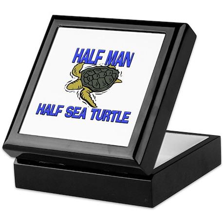 Half Man Half Sea Turtle Keepsake Box