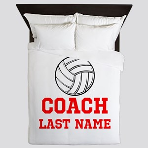 Volleyball Coach Queen Duvet