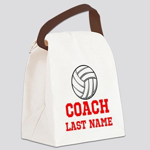 Volleyball Coach Canvas Lunch Bag