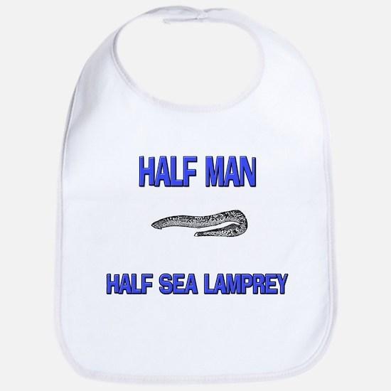 Half Man Half Sea Lamprey Bib