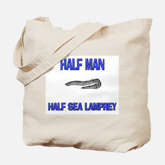 Half Man Half Sea Lamprey Tote Bag