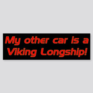 My other car is a Viking Long Bumper Sticker