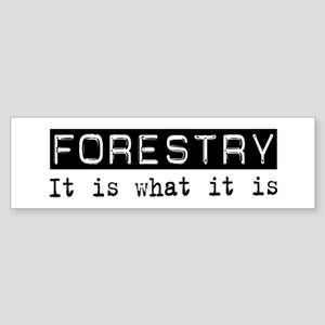 Forestry Is Bumper Sticker