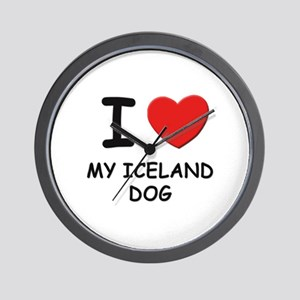 I love MY ICELAND DOG Wall Clock