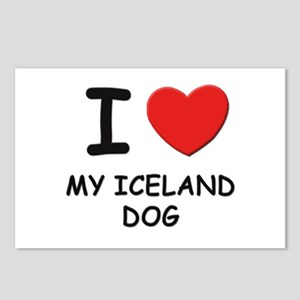 I love MY ICELAND DOG Postcards (Package of 8)