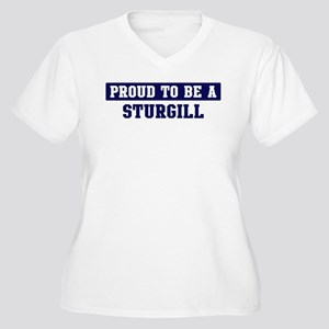 Proud to be Sturgill Women's Plus Size V-Neck T-Sh