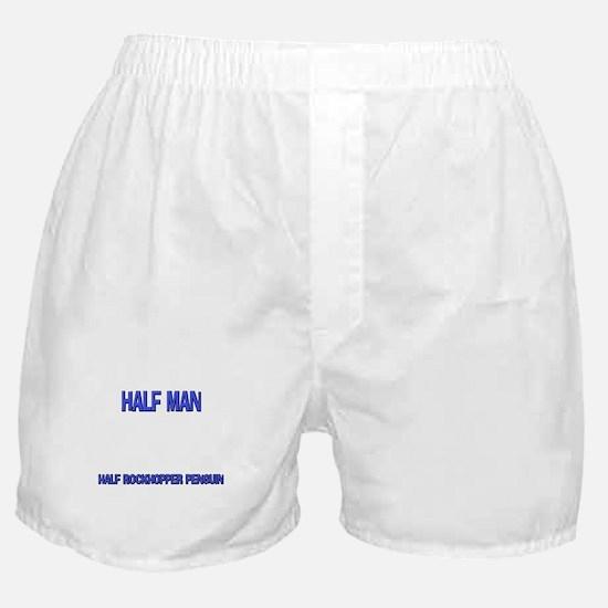 Half Man Half Rockhopper Penguin Boxer Shorts