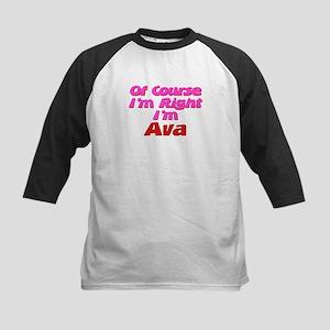 Ava Is Right Kids Baseball Jersey