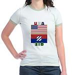 USA-3ID - Women's Ringer T-shirt