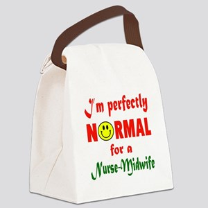 I'm perfectly normal for a Nurse- Canvas Lunch Bag