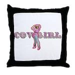 Vintage Cowgirl Pastel Throw Pillow