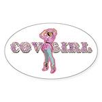 Vintage Cowgirl Pastel Oval Sticker (10 pk)