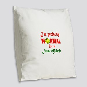 I'm perfectly normal for a Nur Burlap Throw Pillow