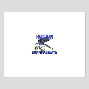 Half Man Half Purple Martin Small Poster