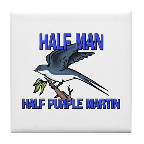 Half Man Half Purple Martin Tile Coaster