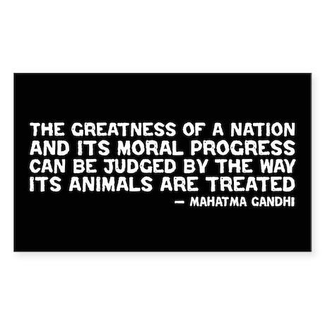 Quote - Greatness - Gandhi Rectangle Sticker