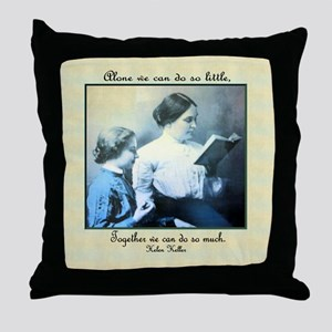 Helen Keller Throw Pillow
