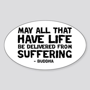 Quote - Buddha - Delivered fr Oval Sticker