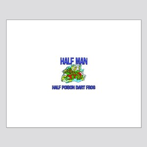 Half Man Half Poison Dart Frog Small Poster